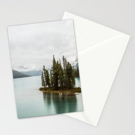 Emerald Spirit Island | Landscape Photography | Maligne Lake | Jasper Alberta Stationery Cards