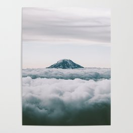 Adams Above Clouds Poster