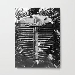 Farmall in B/W Metal Print