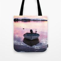 boat Tote Bags featuring Boat by Dora Birgis