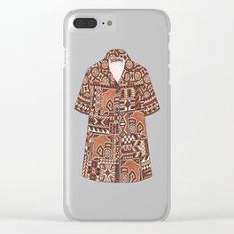 Tapa Shirt Clear iPhone Case