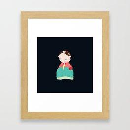 Little korean doll Framed Art Print