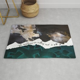The Mountains Are Calling and I Must Go-John Muir Rug