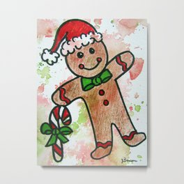 Gingerbread Boy Metal Print