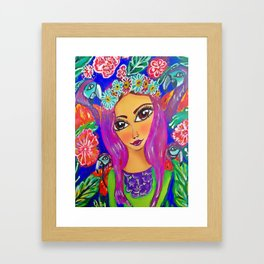fiesta tropical Framed Art Print