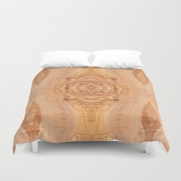 Olive wood surface texture abstract Duvet Cover