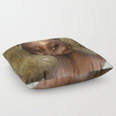 Lupita Nyong'o Floor Pillow