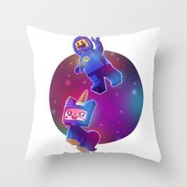 Benny & Unikitty Throw Pillow
