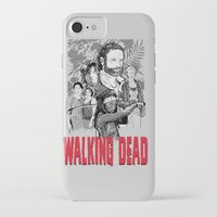 the walking dead iPhone & iPod Cases featuring Walking Dead by Matt Fontaine