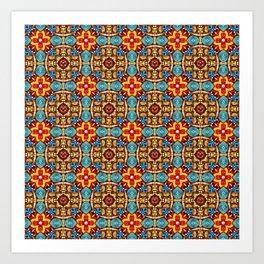Ceramic Celebration Pattern Art Print