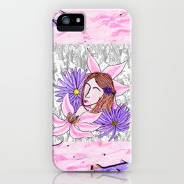 Clematis and Aster iPhone Case