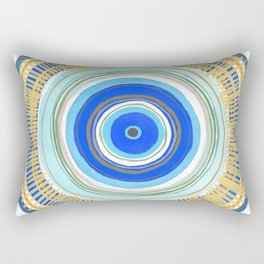 Turquoise Evil Eye Mandala Rectangular Pillow