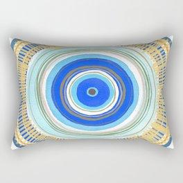 Turquoise Evil Eye Mandala Rectangular Pillow