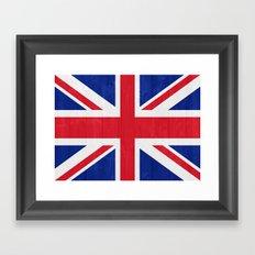 United Kingdom flag Framed Art Print