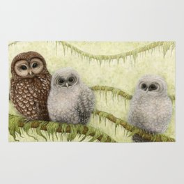 Northern Spotted Owls Rug