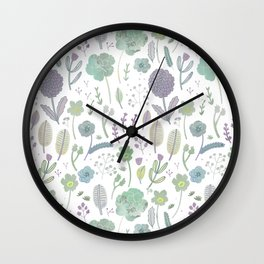 Wild Bloom Wall Clock