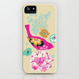Birds and Blooms 1 iPhone Case