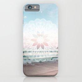 Seashell surf mandala iPhone Case