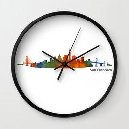 San Francisco City Skyline Hq v1 Wall Clock