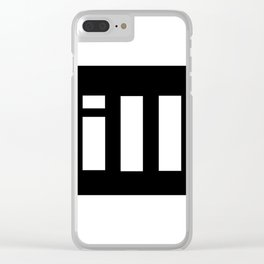 simple is ill WH Clear iPhone Case