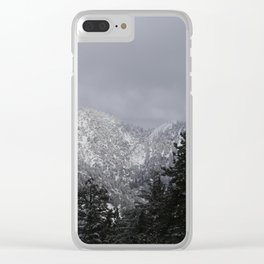 cloudy mountains Clear iPhone Case