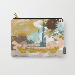 Suspicious Actions, Abstract Landscape Art Carry-All Pouch