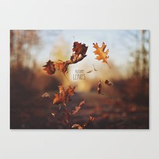 Autumn leaves as quickly as it arrives. Canvas Print