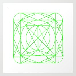 Stained Glass- Green Art Print
