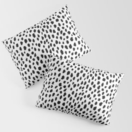 Dalmatian Spots (black/white) Pillow Sham
