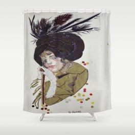 The Cloche - Art Deco Shower Curtain