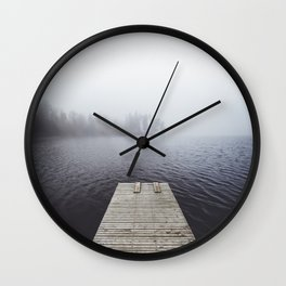 Fading into the mist Wall Clock