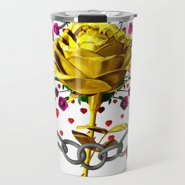 Love rose breaks all chains, hatetolove Travel Mug