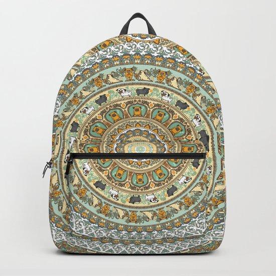 Pug Yoga Medallion Backpack