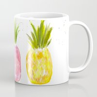 pineapples Mugs featuring Pineapples  by Melanie Dorsey Designs