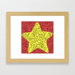 Steven's Star Framed Art Print