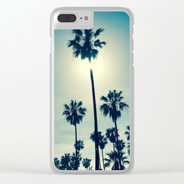 Chillin' palms Clear iPhone Case