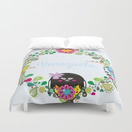 Flower Garland|Corona Florida Duvet Cover