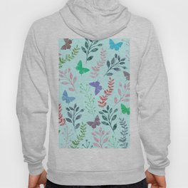Watercolor flowers & butterflies II Hoody