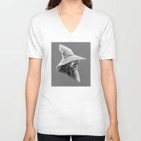 gandalf V-neck T-shirts featuring Gandalf by erintquinn