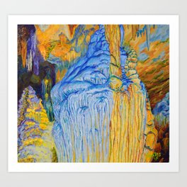 View of Luray Caverns Art Print