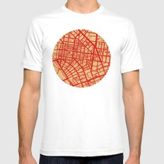 Map of the Town MEDIUM White Mens Fitted Tee