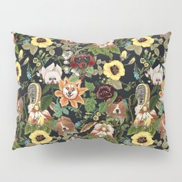 Botanical Puppies Pillow Sham
