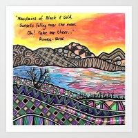 Runrig Song Lyric Quote Scotland Skye  Art Print
