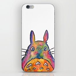 Cute Colorful To to ro - Watercolor Painting - Original iPhone Skin