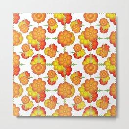 Colorful Stylized Floral Pattern Metal Print