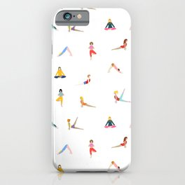 Women in yoga poses iPhone Case