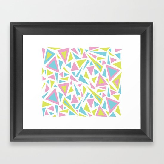 Pastel Triangles Framed Art Print