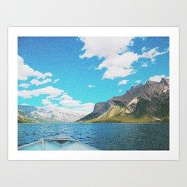 Banff Boatride Art Print