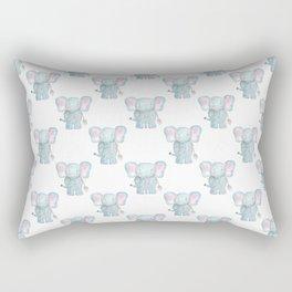 Elephant Watercolor Pattern Rectangular Pillow