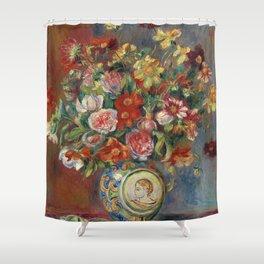 """Pierre-Auguste Renoir """"Vase de fleurs"""" Shower Curtain"""